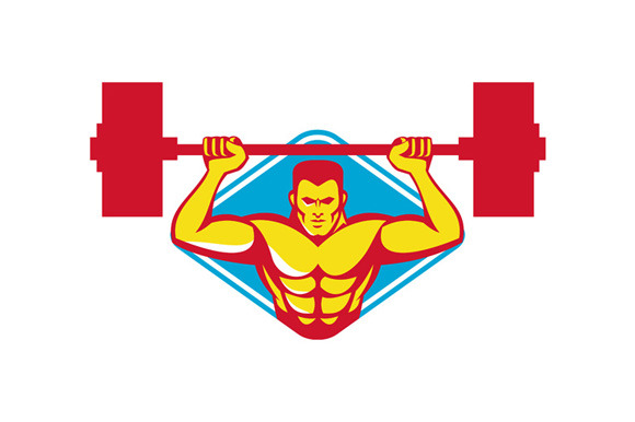 Weightlifter Body Builder Lifting We