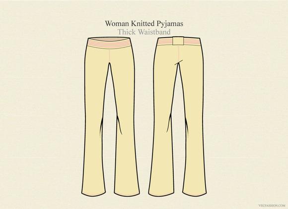 Woman Knitted Pyjama