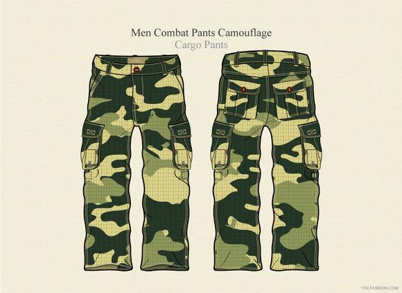 Men Combat Pants Camouflage