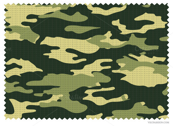 Ripstop Fabric With Camouflage Print