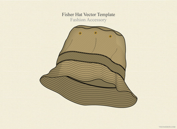 Fisher Hat Vector Template