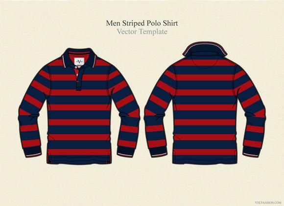 Men Striped Polo Shirt
