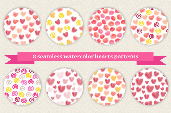 Set Of 8 Valentine S Day Patterns