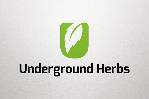 Underground Herbs Letter U Logo
