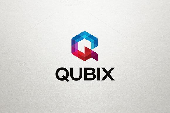 Q Letter Logo Qubix