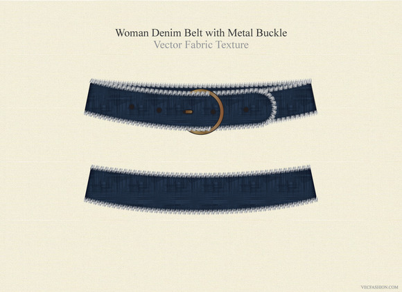 Women Denim Belt Fashion Accessory