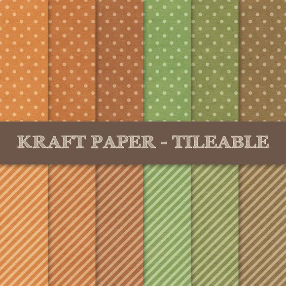 Polka Dots And Stripes ~ Kraft Paper