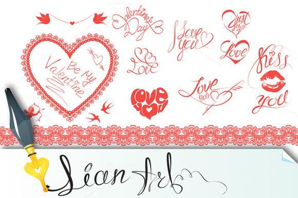 Valentine`s Day Design Elements