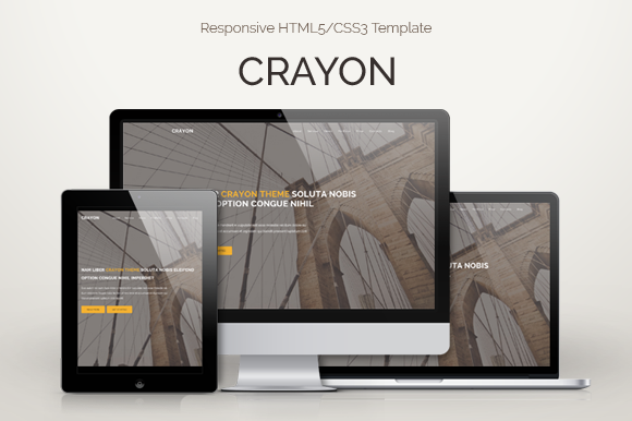 CRAYON Responsive HTML5 CSS3 Theme