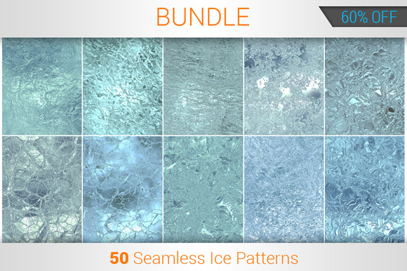 50 Seamless Ice Patterns Bundle