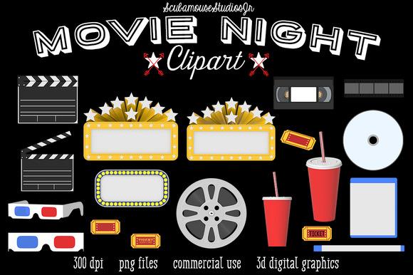 Movie Night Digital Graphics