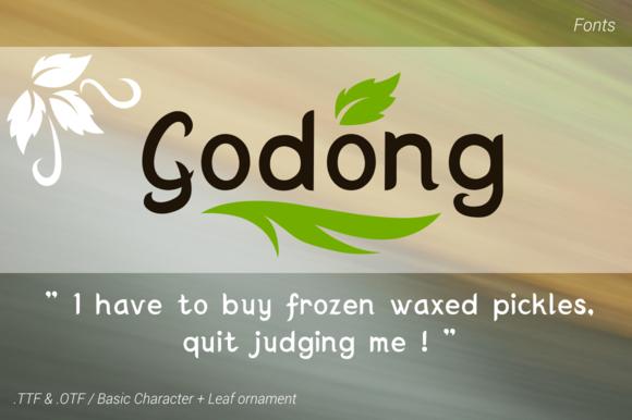 Godong Fresh Leaf Fonts