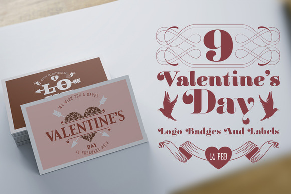 Valentine S Day Logo Badges Labels