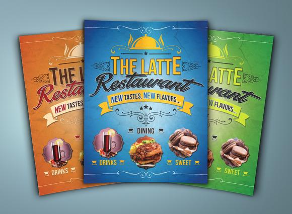 The Latte Cafe Flyer