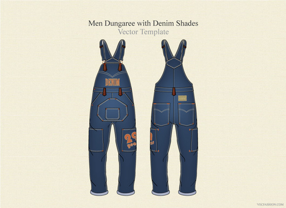 Men Dungaree In Denim Shades