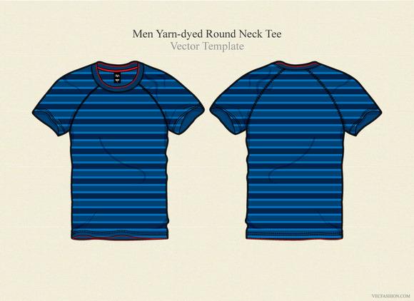 Men Yarn-dyed Round Neck Tee