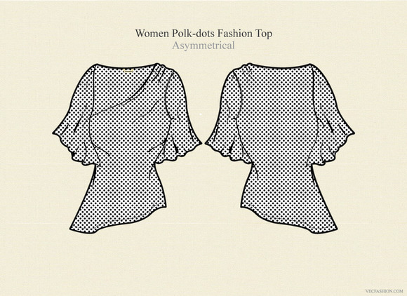 Women Polka Dots Fashion Top