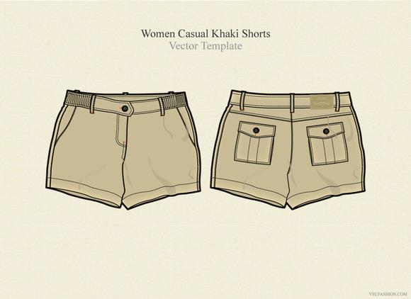 Women Casual Khaki Shorts
