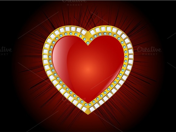 Glossy Heart Vector Illustration