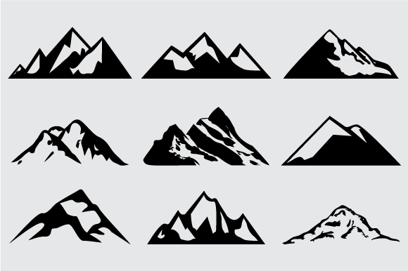 Mountain Shapes For Logos Vol 5