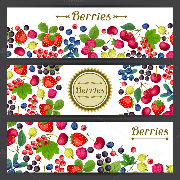 Banners Design With Berries