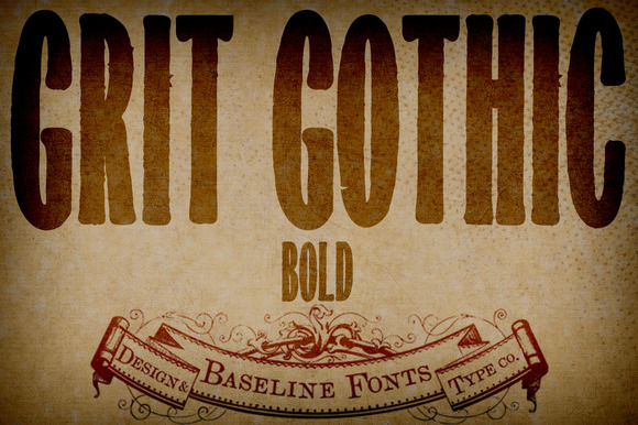 Grit Gothic Bold Grit History B