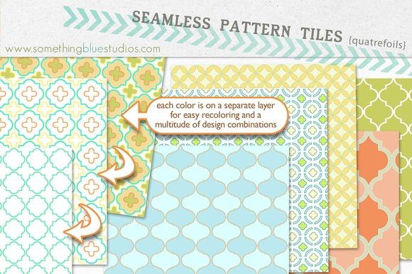 Seamless Pattern Tiles Quatrefoils