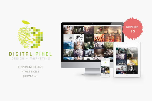 Digital Pixel Responsive J2.5 Theme