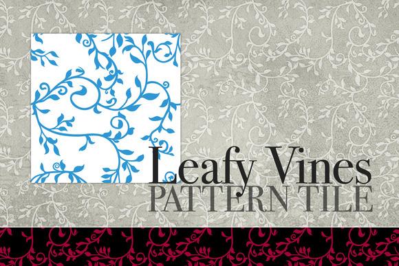 Leafy Vines Pattern Tile