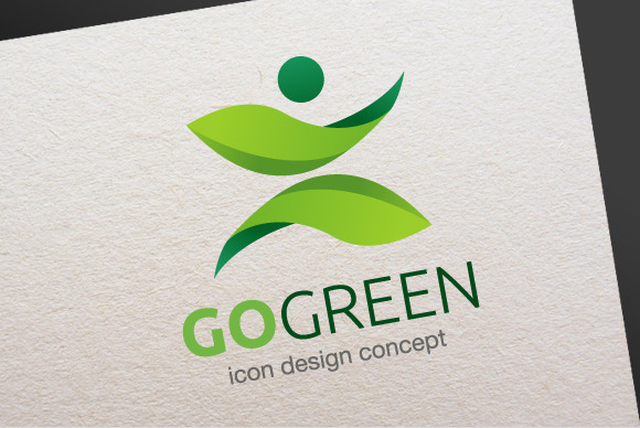 Go Green Logo Template