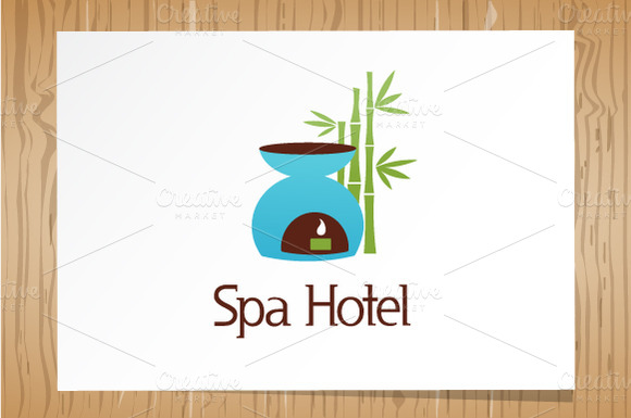 Spa Hotel Logo Template