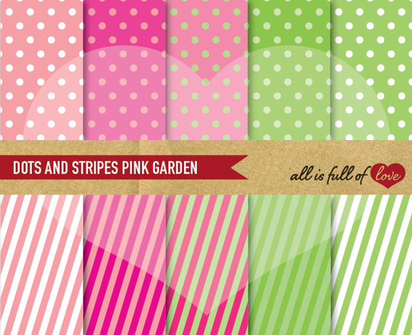 Digital Scrapbooking Patterns Pink