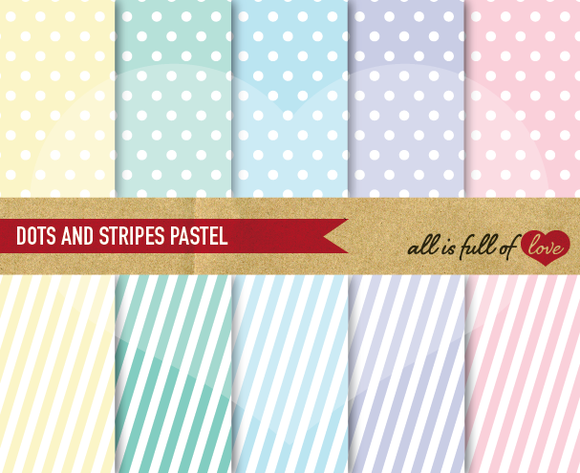 Pastel Background Patterns Polka Dot