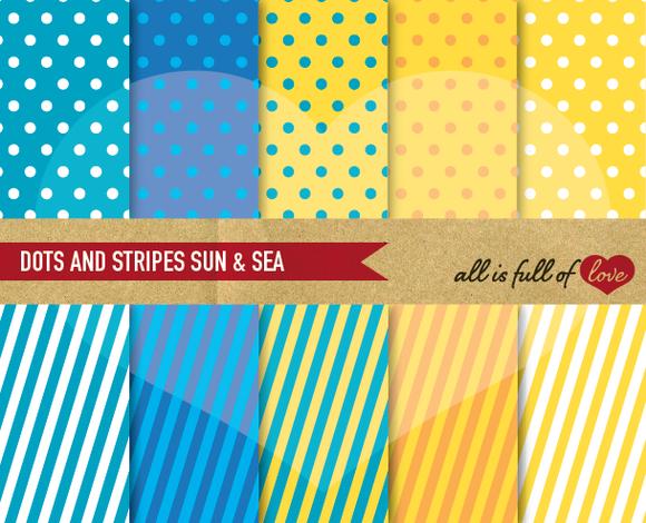 Sun Sea Printable Paper Pack