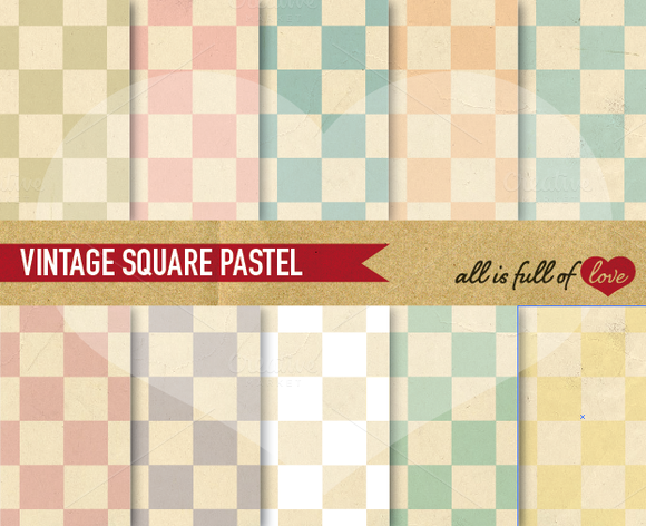 Square Patterns Vintage Style