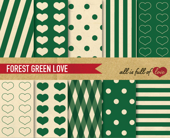Green Digital Backgrounds Kit