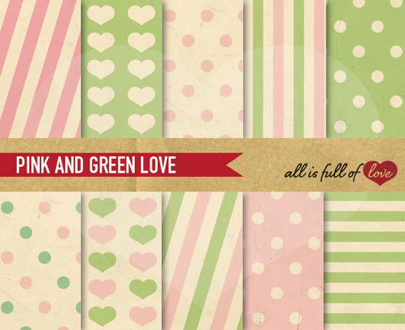 Pink Green Printable Backgrounds
