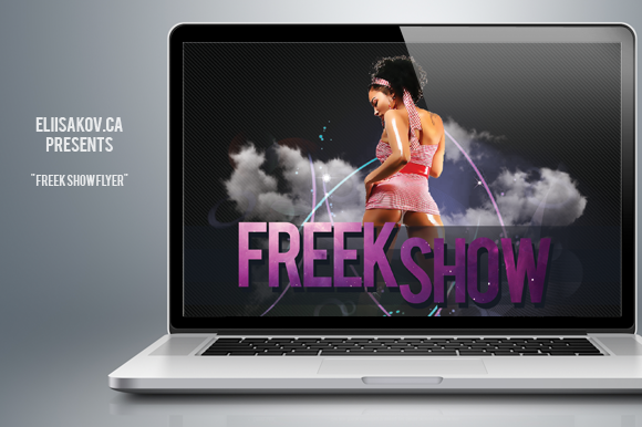 Freek Show Party Flyer