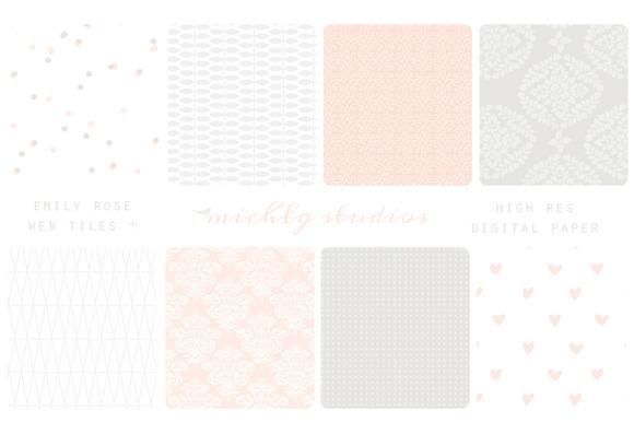 Emily Rose- 8 Web Tiles Digi Paper