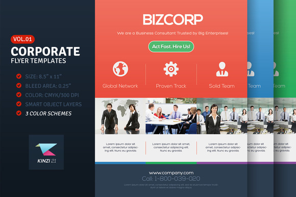 Corporate Flyer Templates Vol.01
