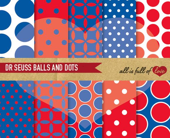 Dr Seuss Printable Digital Patterns