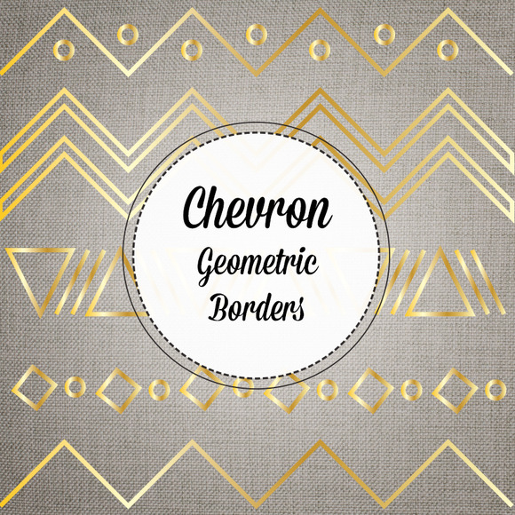 Gold Chevron Borders Vector And PNG