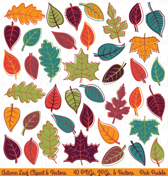 Autumn Leaves Clipart Vectors