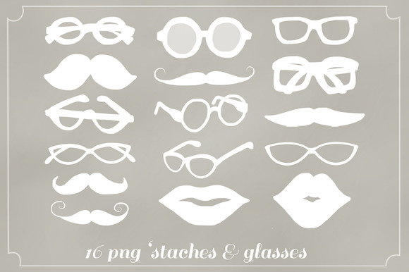 16 Png Staches Glasses