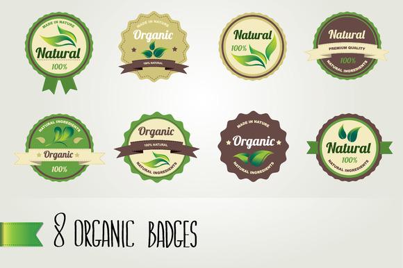 8 Organic Badges