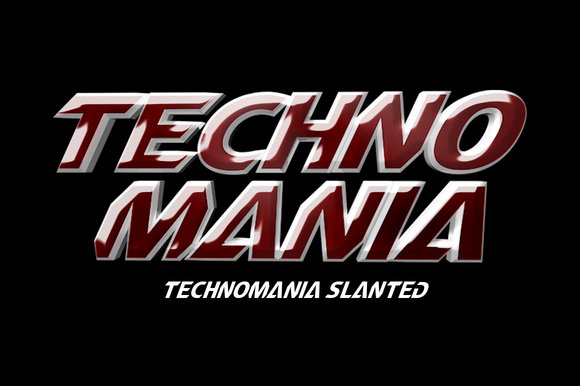 TechnoMania Font