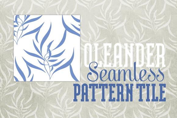 Seamless Pattern Oleander Elegant