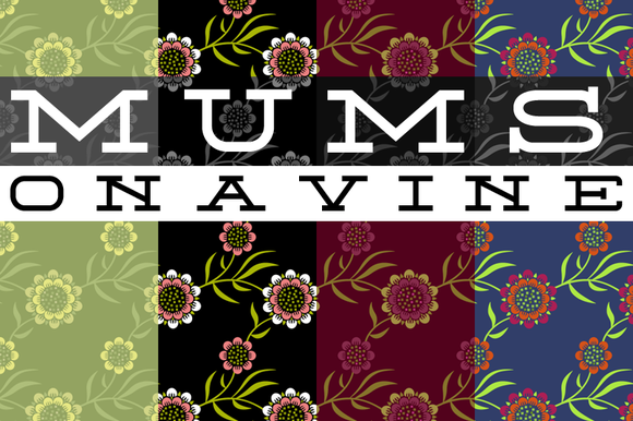 Leafy Mums Pattern Tile