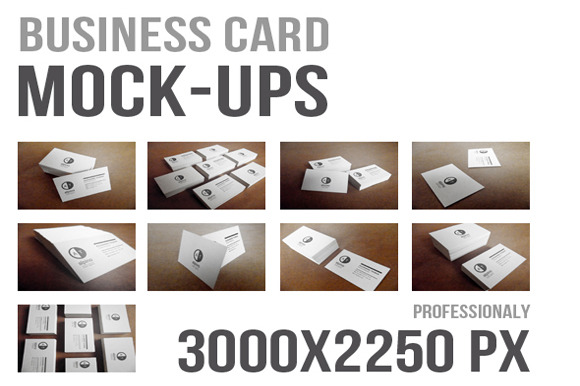 9 Realistic Business Card Mock-Ups