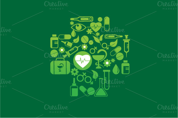 Health And Medicine Vector Icon Set